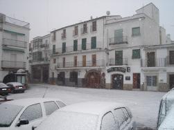 Hoy ha nevado en Montánchez
