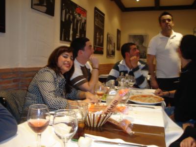 Cena en un italiano